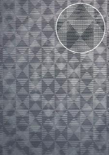 Ton-in-Ton Tapete ATLAS XPL-592-4 Vliestapete strukturiert mit geometrischen Formen schimmernd blau basalt-grau grau grau-blau 5, 33 m2