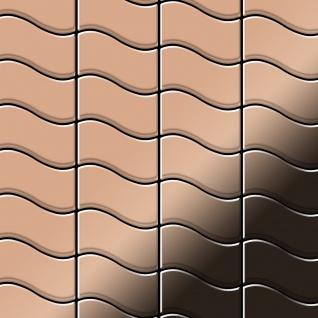 Mosaik Fliese massiv Metall Kupfer gewalzt in kupfer 1, 6mm stark ALLOY Flux-CM Designed by Karim Rashid 0, 86 m2