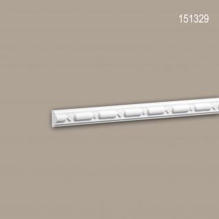 Wand- und Friesleiste PROFHOME 151329 Stuckleiste Zierleiste Wandleiste Neo-Klassizismus-Stil weiß 2 m