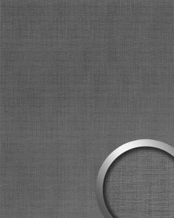Wandpaneel Metalloptik WallFace 20204 Refined Metal Titan AR Wandverkleidung glatt in gebürsteter Metall-Optik und mit metallischen Akzenten selbstklebend abriebfest grau grau-aluminium 2, 6 m2