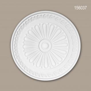 Rosette PROFHOME 156037 Zierelement Deckenelement Neo-Klassizismus-Stil weiß Ø 33 cm