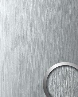 Wandpaneel Metall-Dekor matt Struktur WallFace 12447 DECO SILVER Wandverkleidung selbstklebend hell grau 2, 60 qm