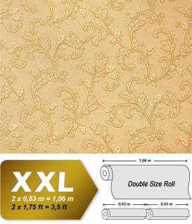 Blumen Tapete Vliestapete EDEM 927-33 Luxus Präge Vlies-Tapete kunst floral fresco aprikose orange gold 10, 65 qm