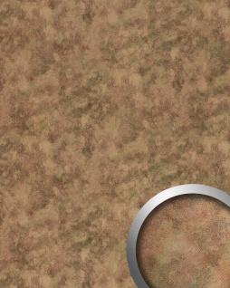 Wandpaneel Metalloptik WallFace 20191 OXIDIZED Autumn Wandverkleidung Vintage Look metallische Akzente selbstklebend abriebfest braun braun-grau 2, 6 m2