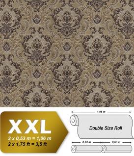 Barock Tapete EDEM 9063-36 Vliestapete geprägt mit Ornamenten glänzend braun beige kupfer silber 10, 65 m2