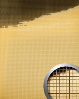 Wandpaneel Wandverkleidung WallFace 10592 M-Style Design-Platte EyeCatch Metall Spiegel Mosaik Dekor selbstklebend tapete gold | 0, 96 qm