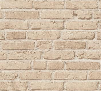 Stein Kacheln Tapete Profhome 355812-GU Vliestapete leicht strukturiert mit Natur-Mustern matt beige 5, 33 m2