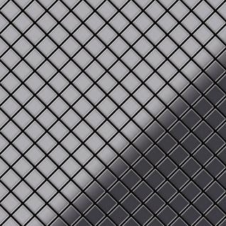 Mosaik Fliese massiv Metall Edelstahl hochglänzend in grau 1, 6mm stark ALLOY Diamond-S-S-M 0, 91 m2 - Vorschau 1