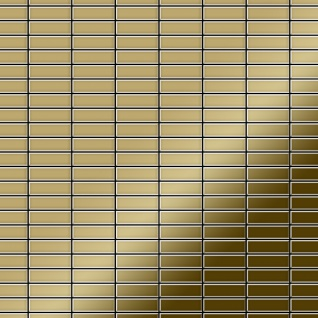 Mosaik Fliese massiv Metall Titan hochglänzend in grau 1, 6mm stark ALLOY Cabin-Ti-GM 1, 01 m2