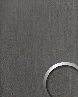 Wandpaneel Metalloptik WallFace 20192 METALLIC USED Titan AR Wandverkleidung glatt im Used Look und mit metallischen Akzenten selbstklebend abriebfest grau graphit-grau 2, 6 m2