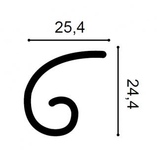 Stuckgesims von Orac Decor G74L Curl Maxi Ulf Moritz LUXXUS Zierelement Stuckprofil klassisches Wand Dekor Element weiß - Vorschau 2