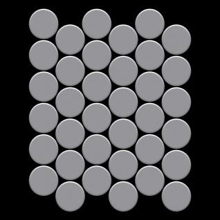 Mosaik Fliese massiv Metall Edelstahl matt in grau 1, 6mm stark ALLOY Medallion-S-S-MA 0, 73 m2 - Vorschau 3