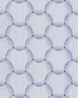 Retro Tapete EDEM 1035-12 Vinyltapete strukturiert mit grafischem Muster glitzernd weiß hell-blau violett-blau 5, 33 m2