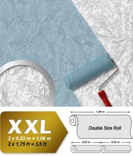 Vliestapete zum Überstreichen EDEM 80317BR60 Dekorative Struktur Wand Tapete streichbar schnee-weiss 26, 50 qm