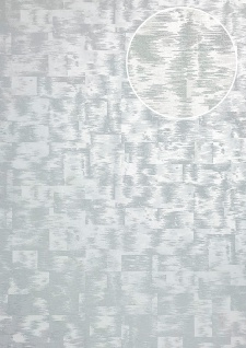 Ton-in-Ton Tapete ATLAS XPL-593-6 Vliestapete strukturiert mit abstraktem Muster schimmernd grau licht-grau silber-grau silber 5, 33 m2