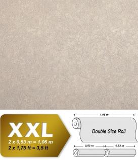 Uni Tapete EDEM 9009-23 Vliestapete geprägt mit abstraktem Muster glänzend beige hell-elfenbein 10, 65 m2