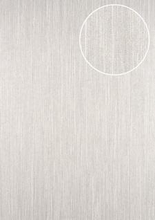 Streifen Tapete ATLAS CLA-596-7 Vliestapete glatt mit grafischem Muster glitzernd silber perl-beige grau-beige 5, 33 m2