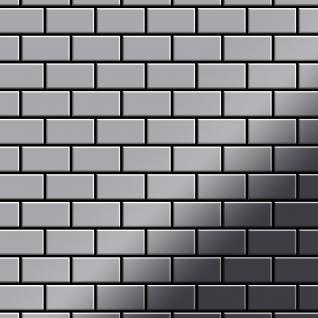 Mosaik Fliese massiv Metall Edelstahl hochglänzend in grau 1, 6mm stark ALLOY House-S-S-M 0, 98 m2