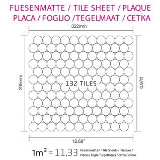 Mosaik Fliese massiv Metall Edelstahl matt in grau 1, 6mm stark ALLOY Dollar-S-S-MA 0, 88 m2 - Vorschau 4