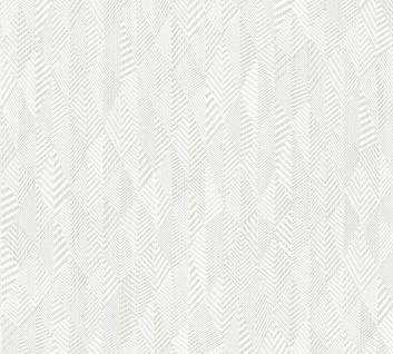 Grafik Tapete Profhome 359981-GU Vliestapete leicht strukturiert mit grafischem Muster matt creme weiß 5, 33 m2