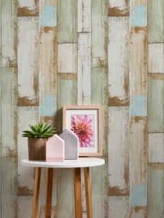 Holz Tapete Profhome 368942-GU Vliestapete glatt in Holzoptik matt beige braun creme-weiß 5, 33 m2 - Vorschau 2
