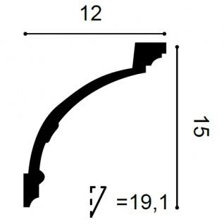 Stuckleiste Orac Decor C218F LUXXUS flexible Zierleiste Eckleiste Dekorprofil Stuckprofil Wand Dekor Leiste   2 Meter - Vorschau 2