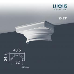 Stuck Halbsäule Orac Decor K4131 LUXXUS Kapitell für Säulensegment Wand Dekor Element