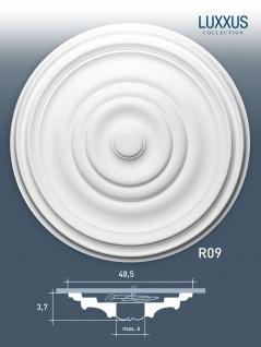 Rosette Stuck Orac Decor R09 LUXXUS Deckenrosette Wand Dekor Stuckrosette classic style Dekor weiß | 48 cm Durchmesser