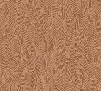 Grafik Tapete Profhome 359984-GU Vliestapete leicht strukturiert mit grafischem Muster matt kupfer braun 5, 33 m2