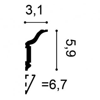 Stuckleiste Zierleiste Profilleiste Orac Decor CX141 AXXENT Kantenleiste Stuck Eckleiste Wand Decken Leiste 2 Meter - Vorschau 2