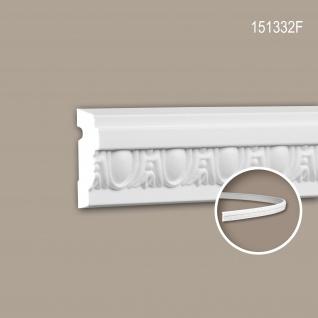 Wand- und Friesleiste PROFHOME 151332F Stuckleiste Flexible Leiste Zierleiste Neo-Klassizismus-Stil weiß 2 m