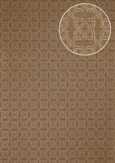 Grafik Tapete Atlas PRI-559-6 Vliestapete strukturiert mit Ornamenten schimmernd oliv perl-gold oliv-grau beige-grau 5, 33 m2