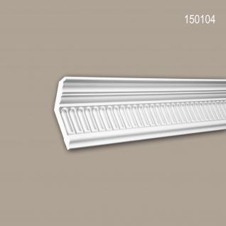 Eckleiste PROFHOME 150104 Zierleiste Stuckleiste Neo-Klassizismus-Stil weiß 2 m