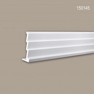 Eckleiste PROFHOME 150145 Zierleiste Stuckleiste Modernes Design weiß 2 m