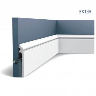 Sockelleiste Orac Decor SX186 LUXXUS CONTOUR Zierleiste Stuckleiste Zeitloses Klassisches Design weiß 2m