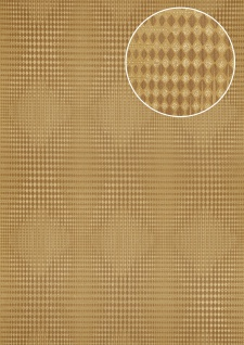 Grafik Tapete Atlas ICO-5074-2 Vliestapete glatt mit geometrischen Formen und metallischen Akzenten gold braun 7, 035 m2