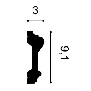 Flexible Wand Leiste Stuckprofil Orac Decor P9010F LUXXUS Friesleiste Rahmen Dekor Profil FLEX Leiste stoßfest | 2 Meter - Vorschau 2