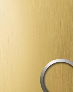 Wandverkleidung Design Platte WallFace 15298 DECO Metall Dekoration selbstklebende Tapete gelb-gold gebürstet matt 2, 60 qm