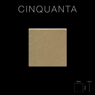 Mosaik Fliese massiv Metall Titan gebürstet in gold 1, 6mm stark ALLOY Cinquanta-Ti-GB 0, 94 m2 - Vorschau 2