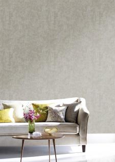 Ton-in-Ton Tapete ATLAS HER-5131-1 Vliestapete strukturiert im Shabby Chic Stil glänzend grau perl-weiß gold-braun 7, 035 m2 - Vorschau 4