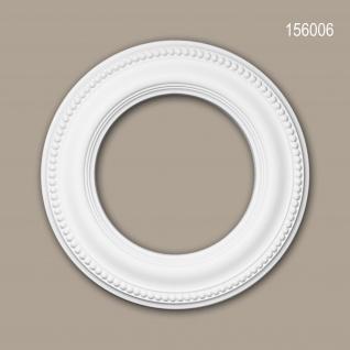 Rosette PROFHOME 156006 Deckenelement Zierelement Neo-Klassizismus-Stil weiß Ø 33 cm