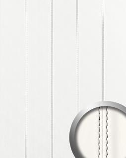 Wandpaneel Leder Design Echtnaht WallFace 15250 LEATHER ZN schwarz Luxus Wandplatte Paneel selbstklebend weiß | 2, 60 qm