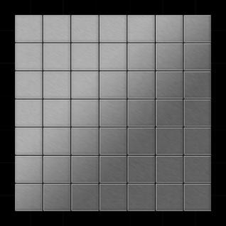 Mosaik Fliese massiv Metall Edelstahl gebürstet in grau 1, 6mm stark ALLOY Attica-S-S-B 0, 85 m2 - Vorschau 3
