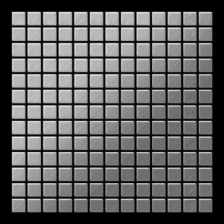 Mosaik Fliese massiv Metall Edelstahl gebürstet in grau 1, 6mm stark ALLOY Mosaic-S-S-B 1, 04 m2 - Vorschau 3