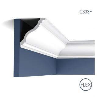 Dekor Profil Orac Decor C333F LUXXUS flexible Leiste Eckleiste Zierleiste Decken Stuck Gesims Dekorleiste 2 Meter