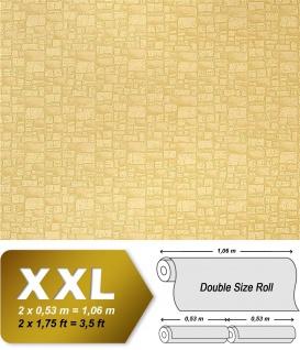 Stein Vliestapete EDEM 922-21 Präge dekorative mauer-stein-optik grün-beige 10, 65 qm