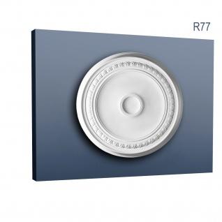 Zierrosette Stuck Orac Decor R77 LUXXUS Rosette Stuck Decken Lampen aus hochwertigem Polyurethan | 62 cm Durchmesser