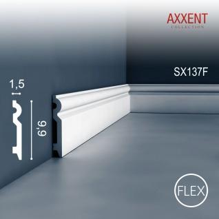 Sockelleiste Orac Decor SX137F AXXENT flexible Zierleiste Stuckleiste Modernes Design weiß 2m