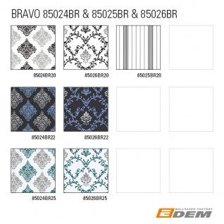 Barock Tapete EDEM 85024BR25 Vinyltapete glatt mit Ornamenten und metallischen Akzenten weiß türkis perl-enzian silber 5, 33 m2 - Vorschau 5