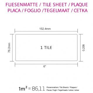 Mosaik Fliese massiv Metall Edelstahl marine hochglänzend in grau 1, 6mm stark ALLOY Subway-S-S-MM 0, 58 m2 - Vorschau 4